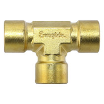 "Tee, 1/4"" Female, Brass"