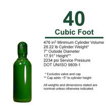 Empty Cylinder, 40 cf High Pressure