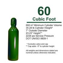 Empty Cylinder, 60 cf High Pressure