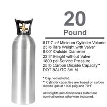 Empty Carbon Dioxide Cylinder, 20# (CGA 320)