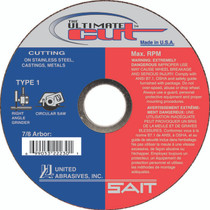 UAI Cutoff Wheel 6x.045x7x8 TY1 Ultimate Cut - 22240