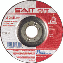 UAI Cutting Wheel 4-1/2x3/32x7/8 TY27 Metal  - 22020