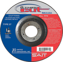 UAI Cutting Wheel 4-1/2x045x7/8 TY27 Ultimate Cut  - 22380