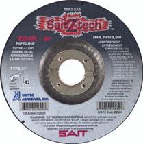 UAI Cutting Wheel 4-1/2x1/8x7/8 TY27 Z-Tech Metal - 22620