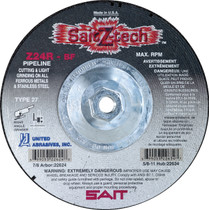 UAI Cutting Wheel 4-1/2x1/8x5/8-11 TY27 Z-Tech Metal - 22630