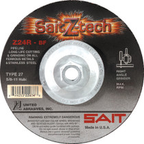 UAI Cutting Wheel 4-1/2x3/32x5/8-11 TY27 Z-Tech Metal - 22651