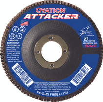 UAI Flap Disc 4-1/2x7/8 60GR TY27 High Density Ovation Attacker - 76208