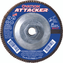 UAI Flap Disc 4-1/2x5/8-11 60GR TY27 High Density Ovation Attacker - 76318