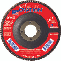 UAI Flap Disc 4-1/2x7/8 36GR TY27 High Density Ovation  - 78005