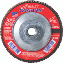 UAI Flap Disc 4-1/2x5/8-11 60GR TY27 High Density Ovation  - 78108