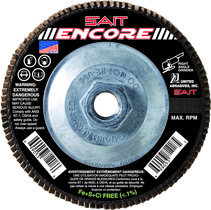 UAI Flap Disc 4-1/2x5/8-11 40G TY27 Encore - 71216
