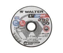 "Walter Cutoff Wheel 4-1/2""x1/32x7/8 TY 1 Zip One™ -  11T542"