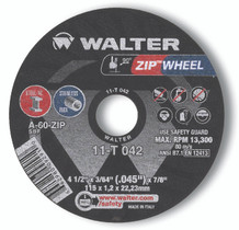 Walter Cutoff Wheel 4-1/2x3/64x7/8 TY 1 Zip™ Wheel -  11T042