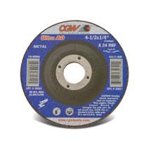 CGW Grinding Wheel 4-1/2x1/4x7/8 A24-R-BF Steel TY27  - 35620