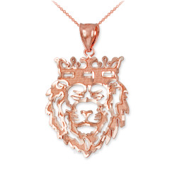 Rose Gold Lion King DC Charm Necklace