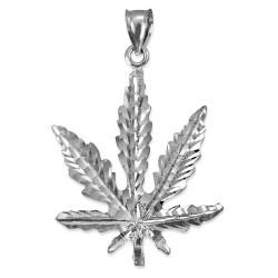 Sterling Silver Marijuana Weed DC Pendant