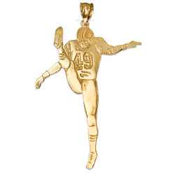 Polished Gold  #49  Football Player Pendant