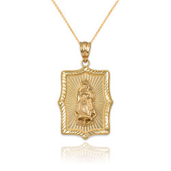 Our Lady of Guadalupe Yellow Gold DC Pendant Necklace