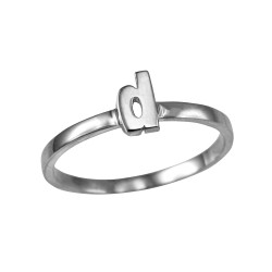Sterling Silver Initial Letter D Stackable Ring