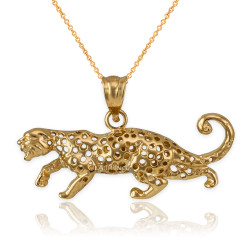 gold cheetah necklace