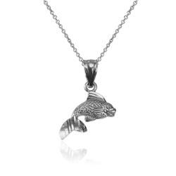 White Gold Tiny Goldfish Charm Necklace