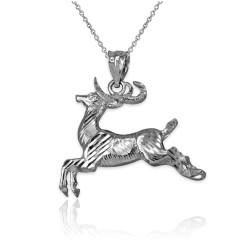 Sterling Silver DC Deer Pendant Necklace