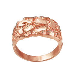 Polished Rose Gold Nugget Ring
