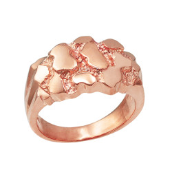 Rose Gold Mens Nugget Ring
