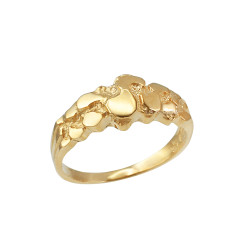 Yellow Gold Womens Nugget Ring