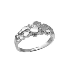 White Gold Womens Nugget Ring