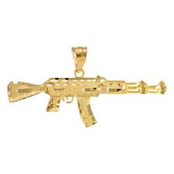 Gold AK-47 Rifle Pendant