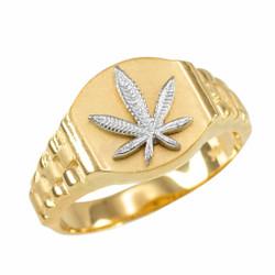 Gold Marijuana Ring