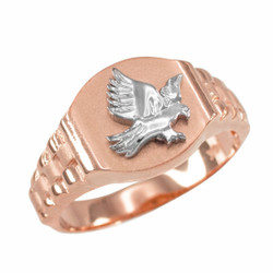 Rose Gold American Eagle Ring