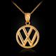 Gold VW logo necklace