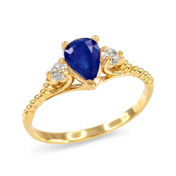 Blue Sapphire Stackable Ring