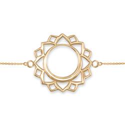 14K Gold Vishuddha Chakra Yoga Bracelet