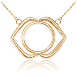 14K Gold Ajna Chakra Yoga Necklace