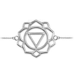 Sterling Silver Manipura Chakra Womens Yoga Bracelet