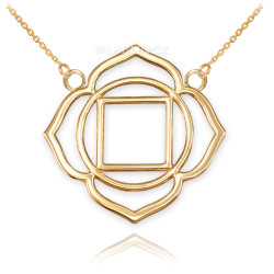 14K Gold Muladhara Chakra Womens Yoga Necklace