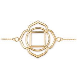 14K Gold Muladhara Chakra Womens Yoga Bracelet