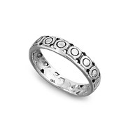 Circles Eternity Petite Rings Sterling Silver 925