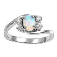 Swirl Opal Ring