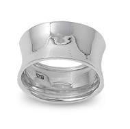 Bent Designer Style Ring Sterling Silver 925