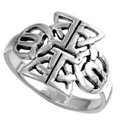 Triquetra Abstract Filigree Ring Sterling Silver 925