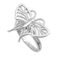 Elysian Fields Butterfly Ring Sterling Silver 925