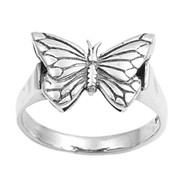 Single Butterfly Ring Sterling Silver 925