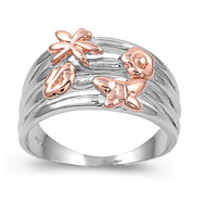 Beauty of Pollination Ring 2d Sterling Silver 925