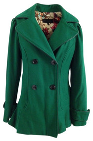 Steve Madden Pea Coat Green