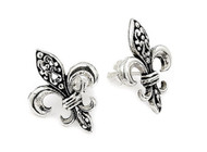 Elegant Fleur De Lis Stud Earrings