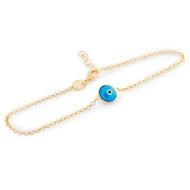 "Gold-Tone Plated Single Baby Eye Bracelet 6""+1"""